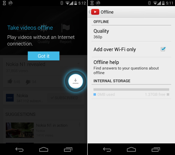 How to Watch YouTube videos offline in Mobile