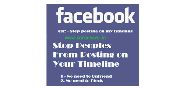 How to Stop Others Posting on Your Facebook Timeline without Blocking