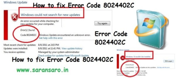 How to fix Error Code 8024402C in Windows