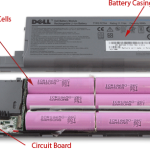 Discarded laptop batteries