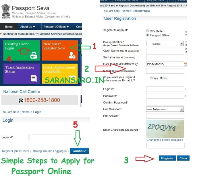 How to apply passport online