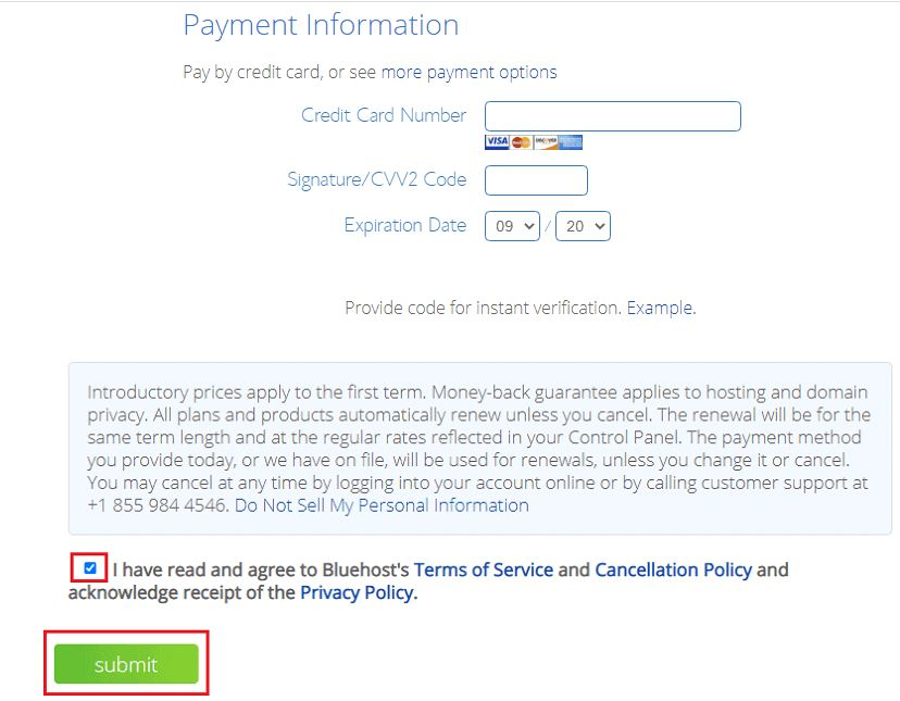 bluehost purchase