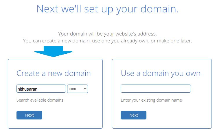 create a new blog name on bluehost