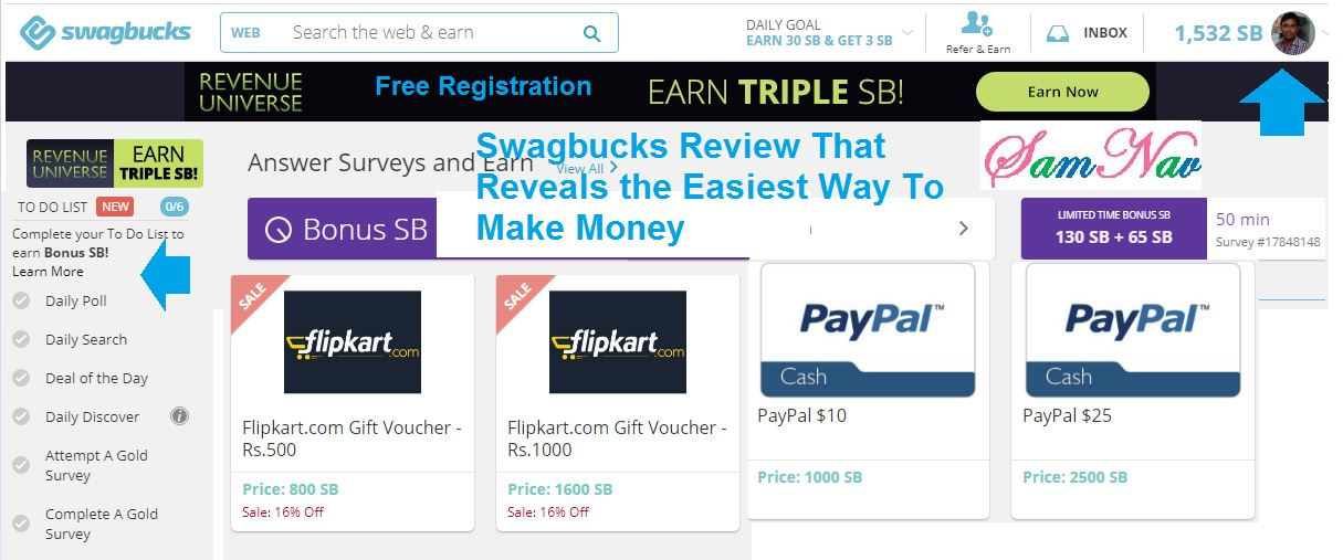 easiest way to make moey from swagbucks